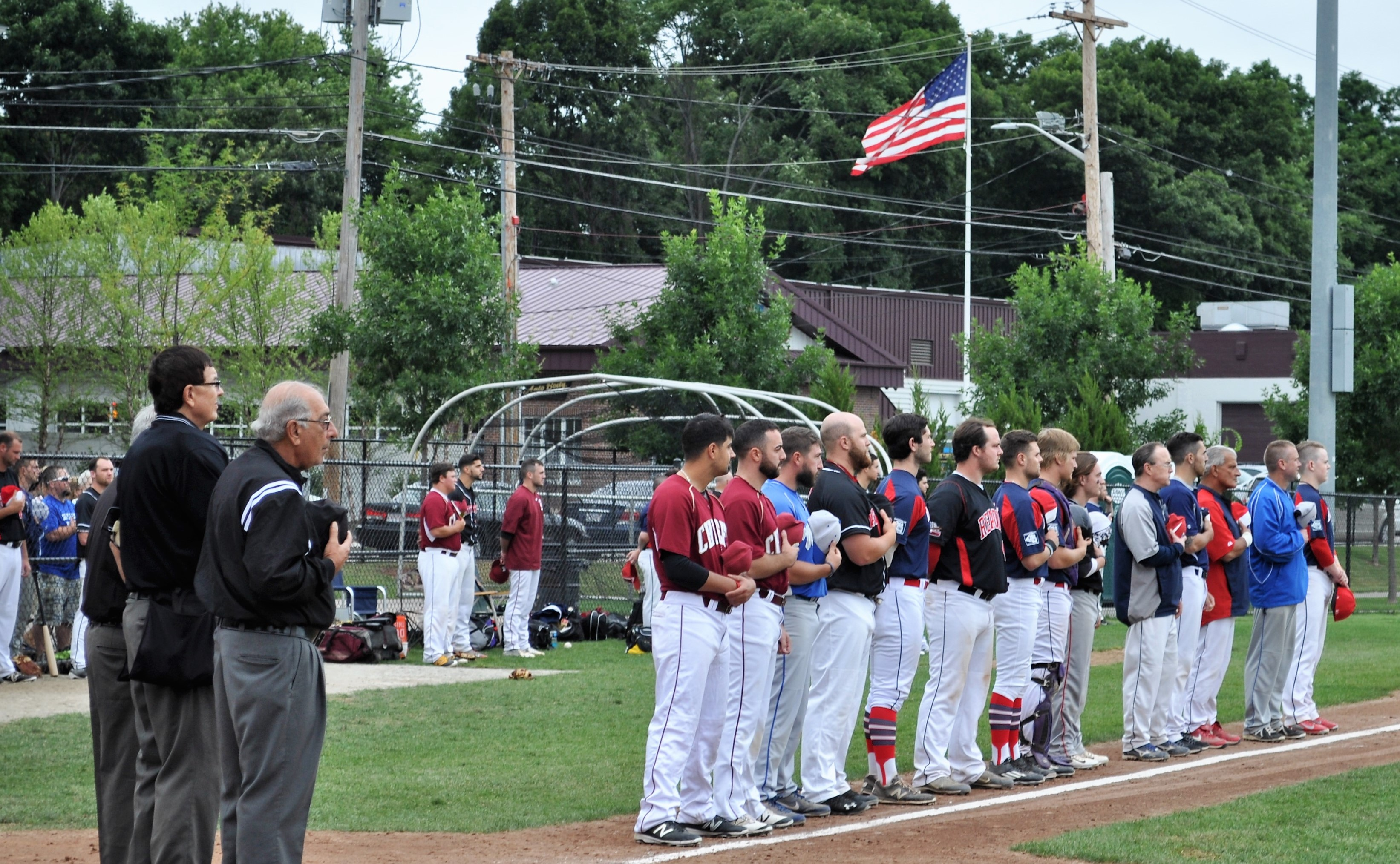2016 ICL All-Stars lineup for national anthem.